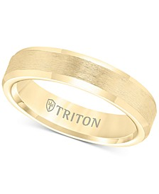 Bevel Edge Comfort Fit Band in Yellow Tungsten Carbide