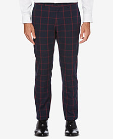 Perry Ellis Men's Slim-Straight Plaid Pants