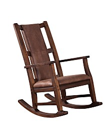 Savannah Antique Charcoal Rocker, Cushion Seat