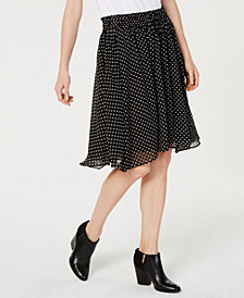 Tommy Hilfiger Drawstring Polka-Dot A-Line Skirt, Created for Macy's