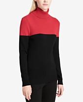 a0a015cda909 Calvin Klein Colorblocked Turtleneck Sweater