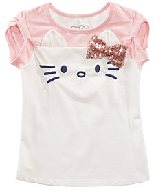 Hello Kitty Little Girls Sequin Bow T-Shirt