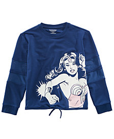 DC Comics Big Girls Wonder Woman Top