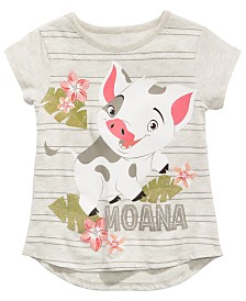 Disney Little Girls Moana Pua Graphic-Print T-Shirt
