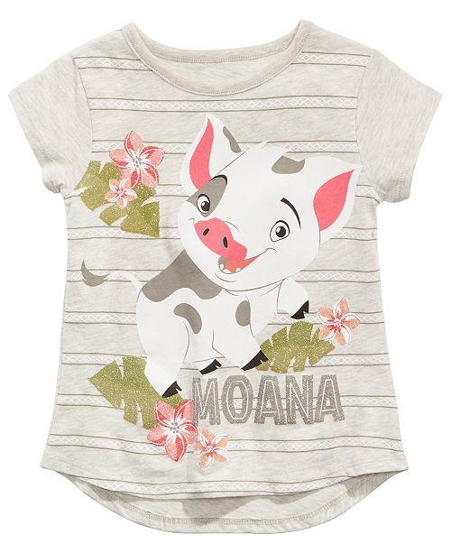 Disney Little Girls Moana Pua Graphic-Print T-Shirt