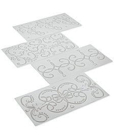 Cake Boss 4-Pc. Classic Fondant Imprint Mat Set