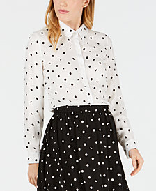 Maison Jules Polka-Dot Shirt, Created for Macy's