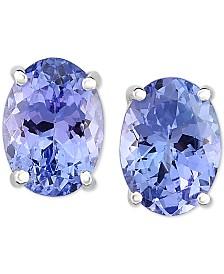 Tanzanite Stud Earrings (1-5/8 ct. t.w.) in 14k White Gold