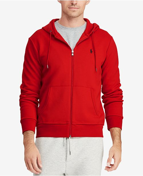 12b99cabe Polo Ralph Lauren Men's Big & Tall Double-Knit Full-Zip Hoodie ...
