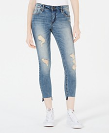 STS Blue Emma Destructed Step-Hem Skinny Jeans
