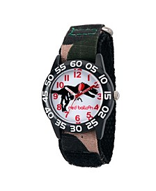 Red Balloon Dinosaur Boys' Black Plastic Time Teacher Watch