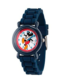 Disney Mickey Mouse Boys' Blue Plastic Time Teacher Watch