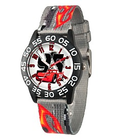 Disney Cars Lightning McQueen Boys' Black Plastic Time Teacher Watch