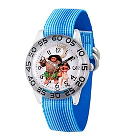 Disney Moana and Maui Boys' Clear Plastic Time Teacher Watch