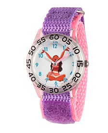Disney Moana Girls' Clear Plastic Time Teacher Watch