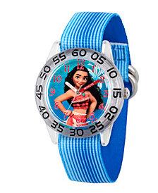 Disney Moana Girls' Clear Plastic Time Teacher Watch