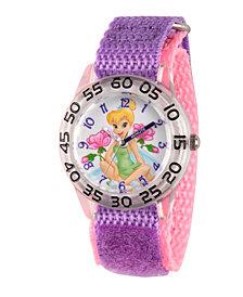 Disney Tinker Bell Girls' Clear Plastic Time Teacher Watch