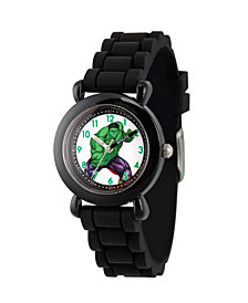 Marvel's Avengers: Hulk Boys' Black Plastic Time Teacher Watch