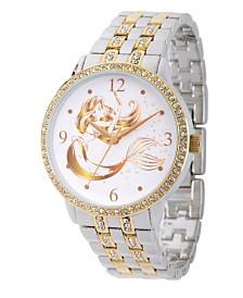 Disney Princess Ariel Women's Two Tone Alloy Glitz Watch