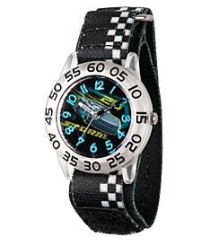 Disney Cars 3 Jackson Storm Boys' Clear Plastic Time Teacher Watch