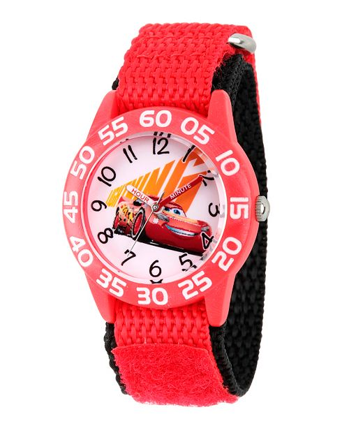 ewatchfactory Disney Cars 3 Lightning McQueen Boys' Red Plastic Time Teacher Watch