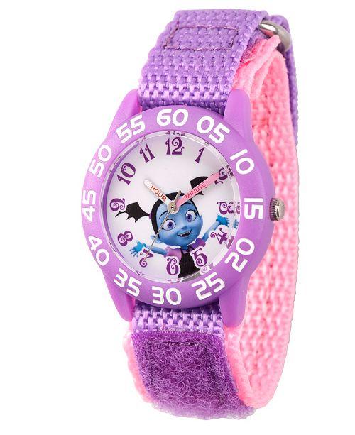 ewatchfactory Disney Vampirina Girls' Purple Plastic Time Teacher Watch