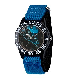Marvel Black Panther & Avengers Boys' Black Plastic Time Teacher Watch