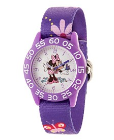 Disney Minnie Mouse Girls' Purple Plastic Time Teacher Watch