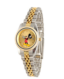 Disney Mickey Mouse Men's Two Tone Silver and Gold Alloy Watch