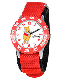 Disney Pooh Boys' Stainless Steel Time Teacher Watch