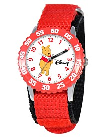 Disney Pooh Boys' Stainless Steel Time Teacher Watch