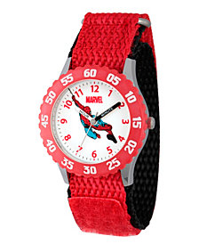 Marvel Comics: Spider-Man Boys' Stainless Steel Time Teacher Watch