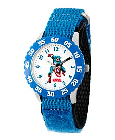Marvel Comics: Captain America Boys' Stainless Steel Time Teacher Watch