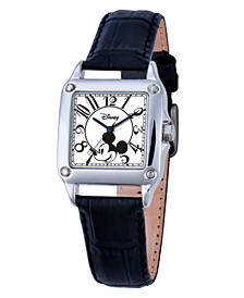 Disney Mickey Mouse Women's Silver Alloy Square Watch