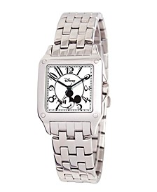 Disney Mickey Mouse Women's Silver Alloy Square Watc