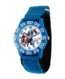 Marvel Captain America Boys' Blue Plastic Time Teacher Watch