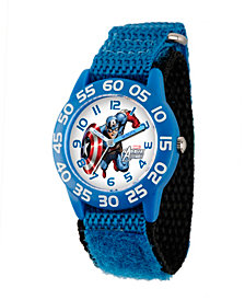 Marvel Captain America Boys' Blue Plastic Time Teacher Watch