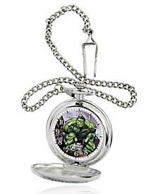 Marvel Hulk Men's Silver Alloy Pocket Watch