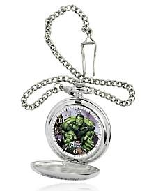 Marvel Hulk Men's Silver Alloy Pocket Watch