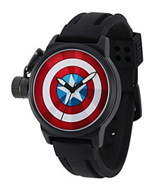 Marve Captain America Men's Black Alloy Watch