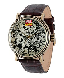 Marvel Spider-Man, Iron Man, Hulk, Captain America Men's Vintage Gold Antique Alloy Watch