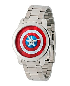 Marvel Captain America Men's Silver Alloy Watch