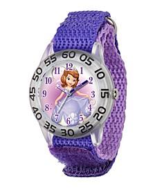 Disney Sofia Girls' Plastic Time Teacher Watch