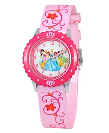 Disney Princess Girls' Stainless Steel Time Teacher Watch