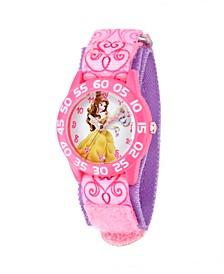 Disney Belle Girls' Pink Plastic Time Teacher Watch
