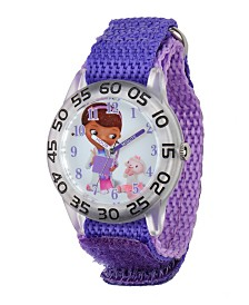 Disney Doc McStuffins Girls' Plastic Time Teacher Watch