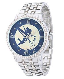 Disney Tinker Bell Women's Silver Alloy Watch  With Glitz