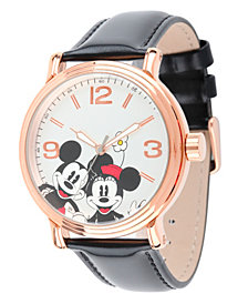 Disney Mickey Mouse & Minnie Mouse Men's Shinny Rose Gold Vintage Alloy Watch