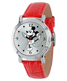 Disney Mickey Mouse Women's Shiny Silver Vintage Alloy Watch