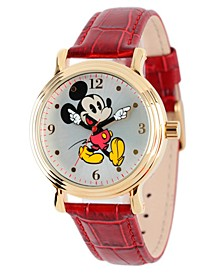 Disney Mickey Mouse Men's Shiny Gold Vintage Alloy Watch